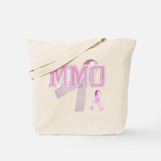 MMO initials, Pink Ribbon, Tote Bag