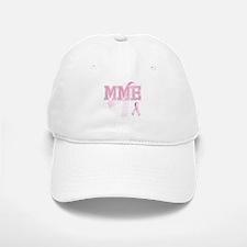 MME initials, Pink Ribbon, Baseball Baseball Cap