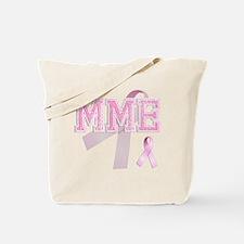 MME initials, Pink Ribbon, Tote Bag
