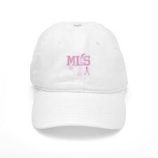 MLS initials, Pink Ribbon, Baseball Cap
