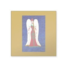 "Russian Orthodox Angel Square Sticker 3"" x 3&"