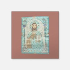 "Christ the Teacher Square Sticker 3"" x 3&quot"
