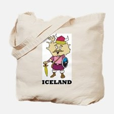 Cartoon Iceland Tote Bag