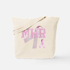 MHR initials, Pink Ribbon, Tote Bag