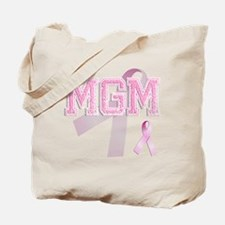MGM initials, Pink Ribbon, Tote Bag