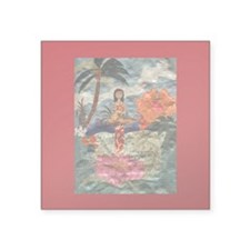 "Hawaii Square Sticker 3"" x 3"""