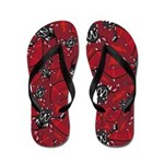 Mystical Dragon Patterned Flip Flops