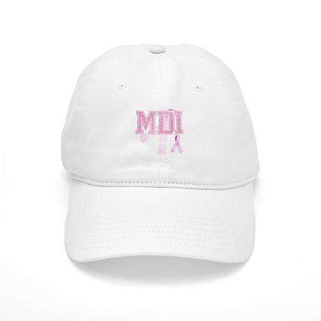 MDI initials, Pink Ribbon, Cap