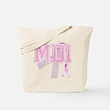 MDI initials, Pink Ribbon, Tote Bag