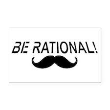 Be Rational! Rectangle Car Magnet