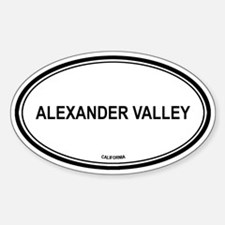 Alexander Valley oval Oval Decal