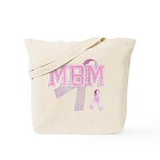 MBM initials, Pink Ribbon, Tote Bag