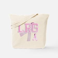 LRG initials, Pink Ribbon, Tote Bag