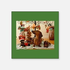 Christmas Dachshund (Ver.2) Square Sticker 3""