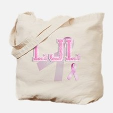 LJL initials, Pink Ribbon, Tote Bag