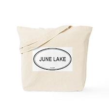 June Lake oval Tote Bag