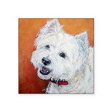 """Booker's"" Westie stuff! Square Sticker 3"" x 3"""