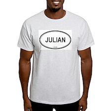 Julian oval Ash Grey T-Shirt