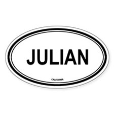 Julian oval Oval Decal