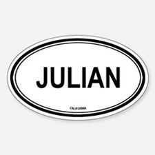Julian oval Oval Decal