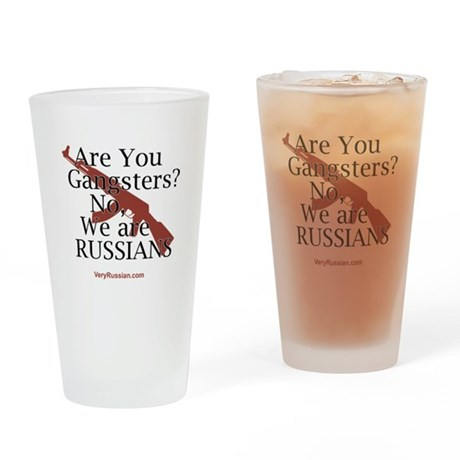 Russians/Gangsters Drinking Glass