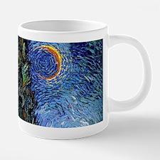 Van Gogh Starry Cyrpess Rd Mugs