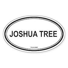 Joshua Tree oval Oval Decal