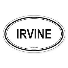 Irvine oval Oval Decal
