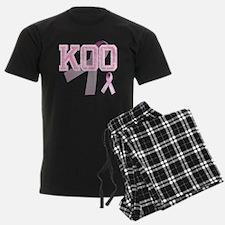 KOO initials, Pink Ribbon, Pajamas