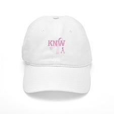 KNW initials, Pink Ribbon, Baseball Cap