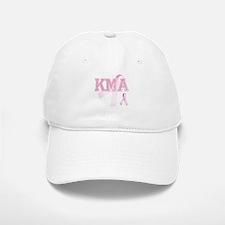KMA initials, Pink Ribbon, Baseball Baseball Cap