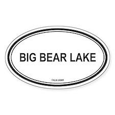 Big Bear Lake oval Oval Decal