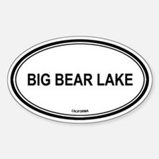 Big Bear Lake oval Oval Decal