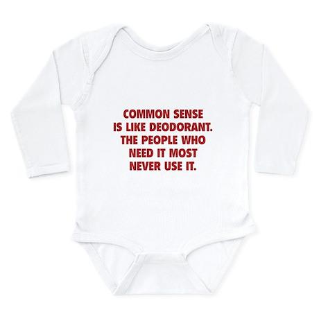 Common Sense Long Sleeve Infant Bodysuit