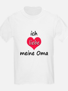 ich liebe meine Oma I love my grandma in German Ki