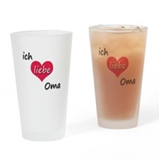 ich liebe Oma I love grandma in German Drinking Gl