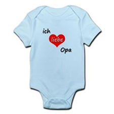 ich liebe Opa I love grandpa in German Infant Body