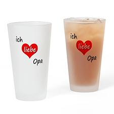 ich liebe Opa I love grandpa in German Drinking Gl