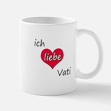 Ich liebe Vati German I love Daddy Mug