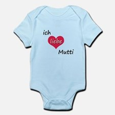 Ich liebe Mutti German I love Mommy Infant Bodysui