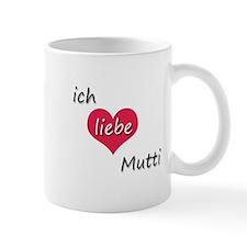 Ich liebe Mutti German I love Mommy Mug