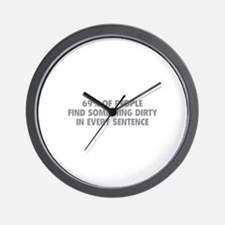 Dirty Sentence Wall Clock