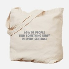 Dirty Sentence Tote Bag