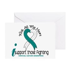 With All My Heart Cervical Cancer Greeting Card