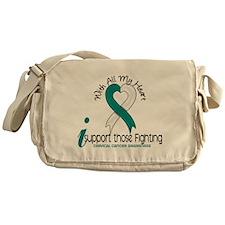 With All My Heart Cervical Cancer Messenger Bag
