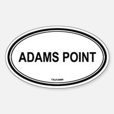 Adams Point oval Oval Decal