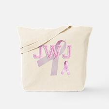 JWJ initials, Pink Ribbon, Tote Bag