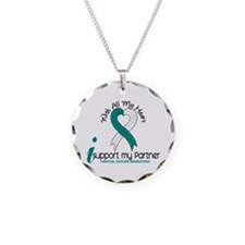 With All My Heart Cervical Cancer Necklace Circle