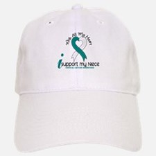 With All My Heart Cervical Cancer Baseball Baseball Cap