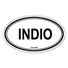 Indio oval Oval Decal